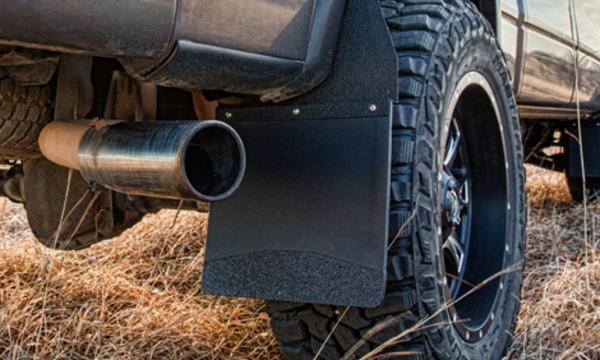 chevrolet silverado  hd kickback truck mud flaps mud flaps  big tires husky liners
