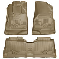 WeatherTech All-Weather Floor Mats for Cadillac SRX 2010-2016 1st 2nd Row Black
