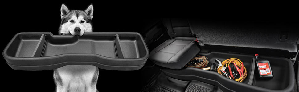 Husky Liners GearBox Under Seat Storage - Ram - images FeaturePlusImages HeaderGB w970 q100