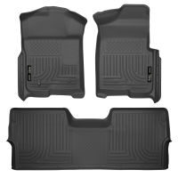 Front & 2nd Seat Floor Liners (Footwell Coverage) - Black