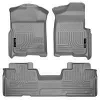 Front & 2nd Seat Floor Liners (Footwell Coverage) - Grey