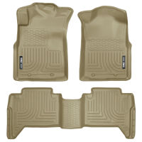 Front & 2nd Seat Floor Liners (Footwell Coverage) - Tan
