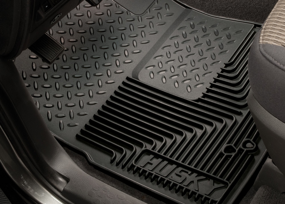 Grey Husky Liners Custom Fit Heavy Duty Front Floor Mat for Select Cadillac//Chevrolet//Dodge//GMC Models