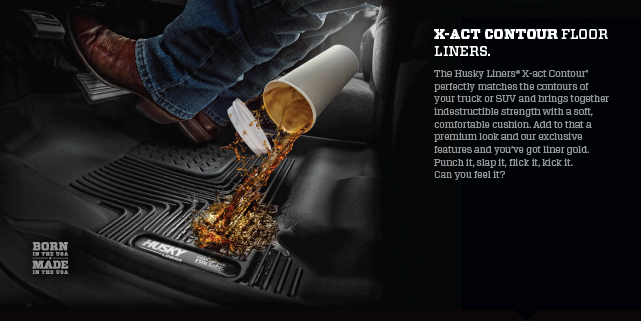 Coffee Spill/X-Act Contour Floor Liners - Husky Liners