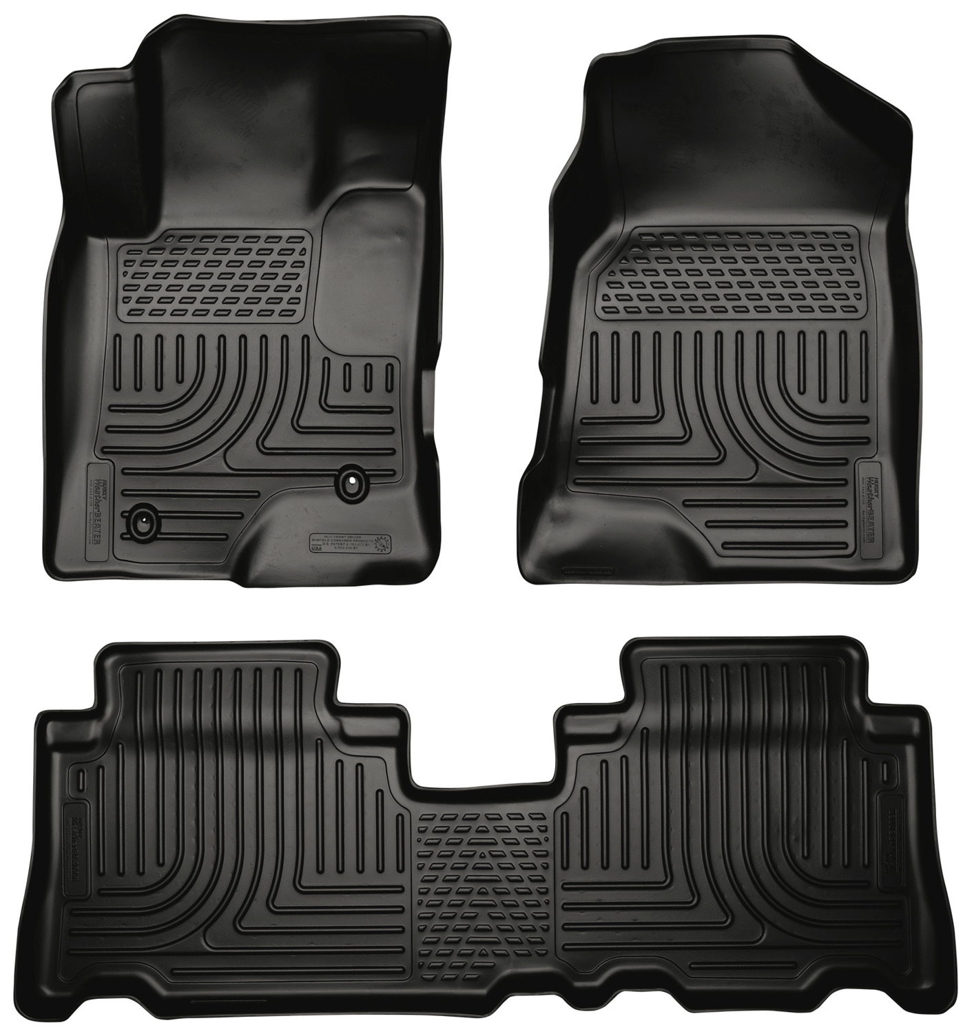 2012 Chevy Captiva Accessories: Husky Weatherbeater All Weather Floor Mats For 2012-2015