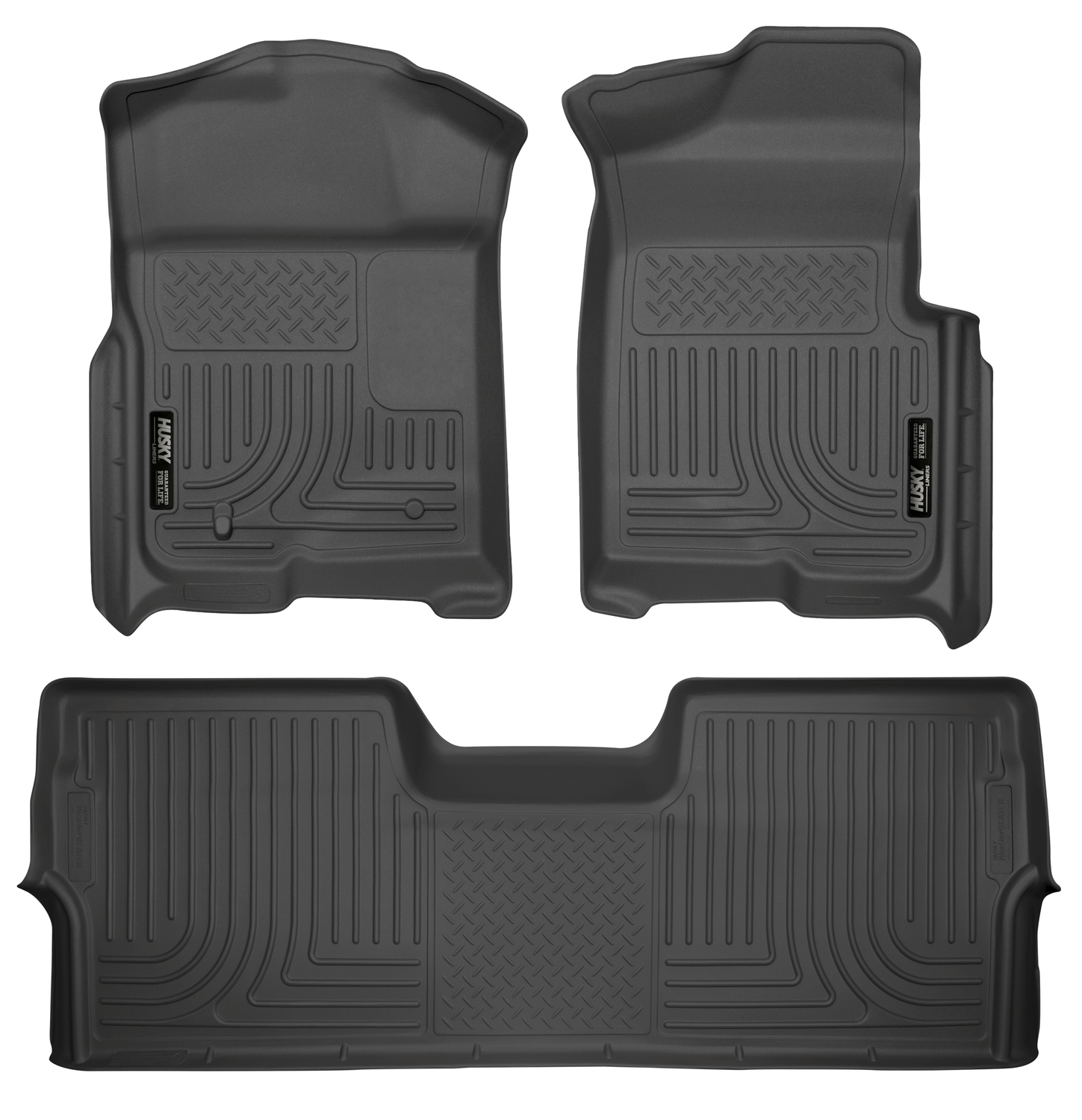 husky liners weatherbeater 2009 2016 ford f 150 supercrew cab floor mats black