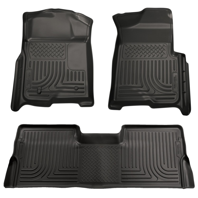 mat ford set floor mats mustang rubber ba p black