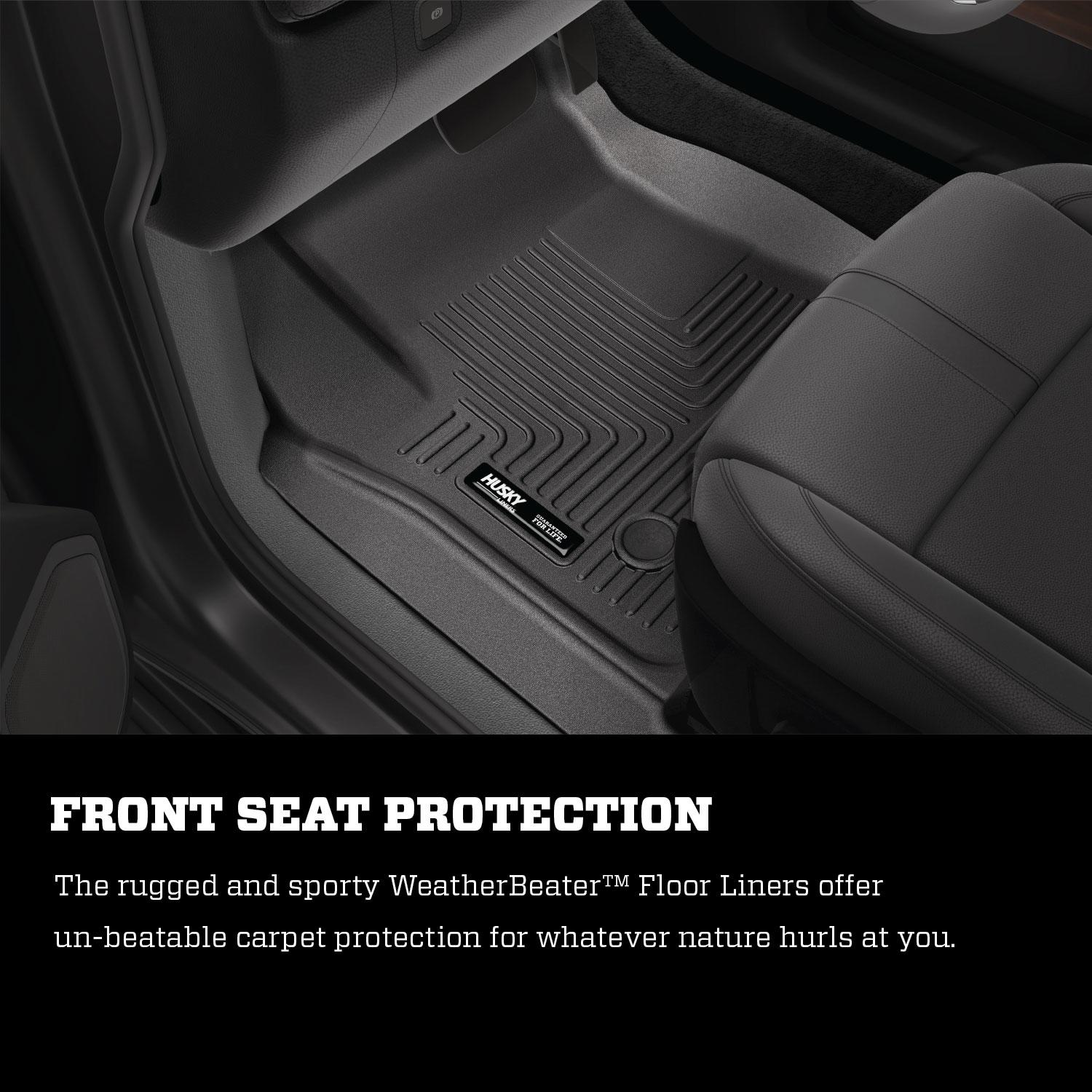 Husky-Liners-Weatherbeater-Second-Row-Floor-Liners-Black-for-Santa-Fe-14871 thumbnail 2
