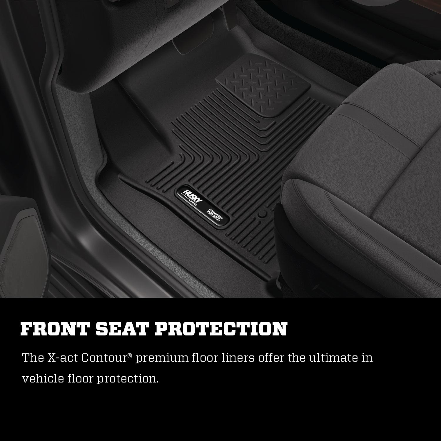 Husky Front Floor Liner Fits 2018 Toyota Tacoma 53751