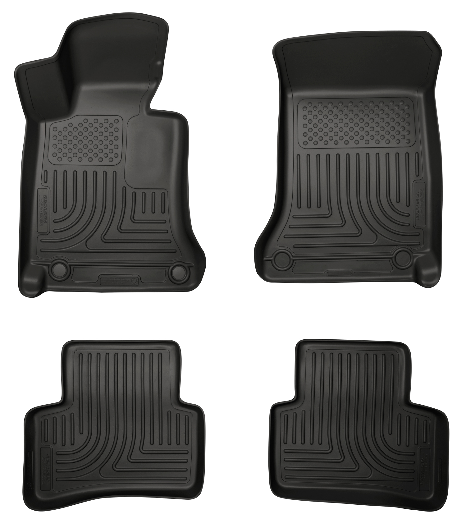 08 13 mercedes benz c class 4 dr floor mats black husky liners set. Cars Review. Best American Auto & Cars Review
