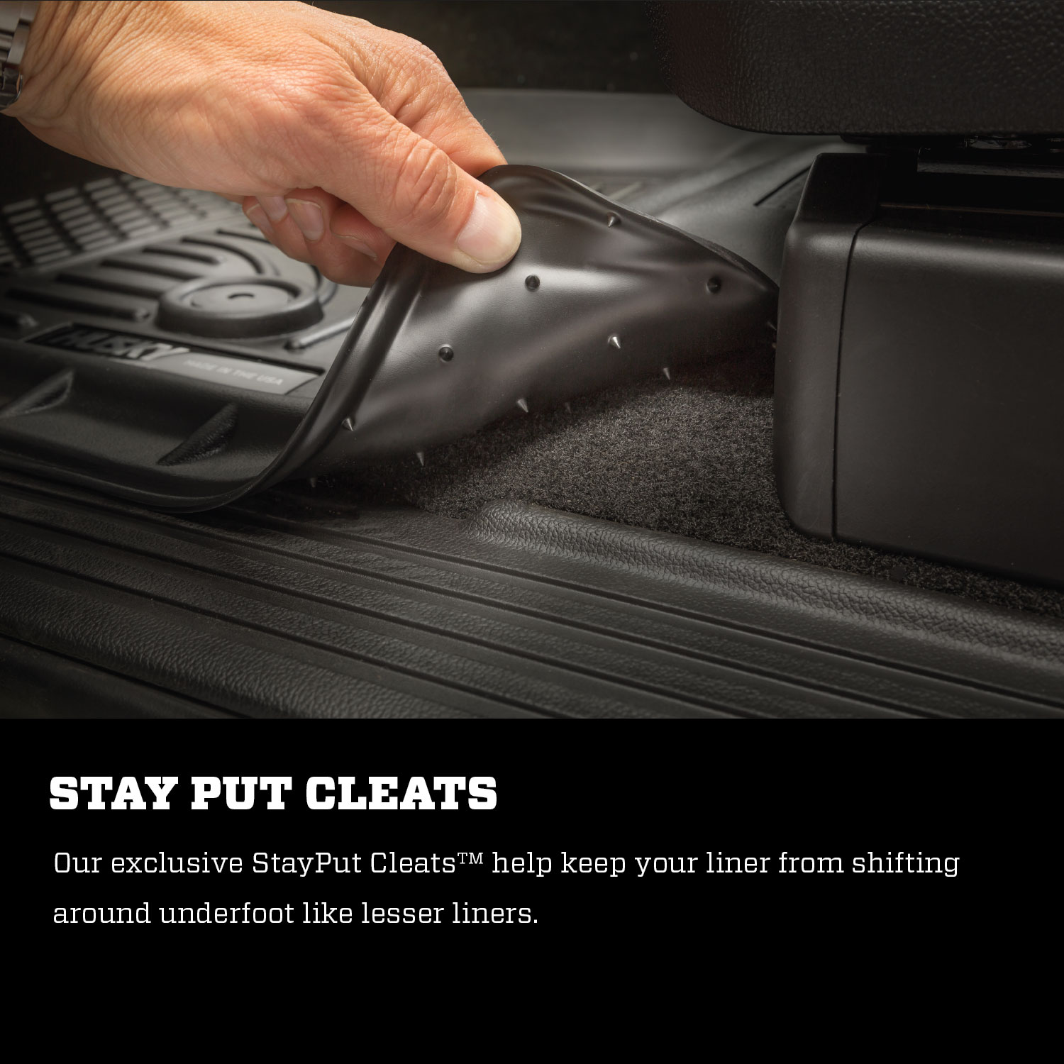 Husky-Liners-Weatherbeater-Second-Row-Floor-Liners-Black-for-Santa-Fe-14871 thumbnail 8